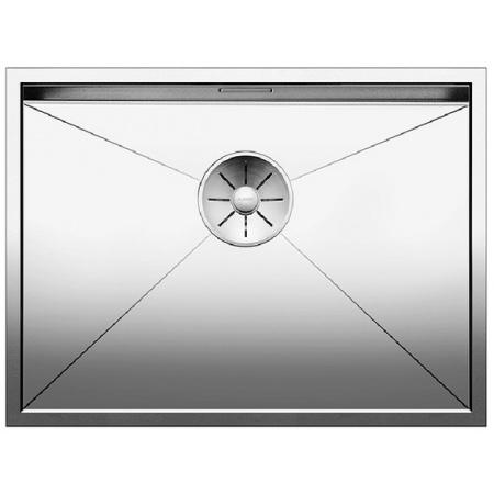 Blanco Zerox 550-U Zlewozmywak stalowy jednokomorowy 59x44 cm bez korka automatycznego stalowy 521591