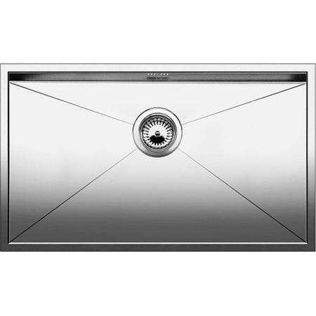 Blanco Zerox 700-U Zlewozmywak stalowy jednokomorowy 74x44 cm bez korka automatycznego stalowy 521593
