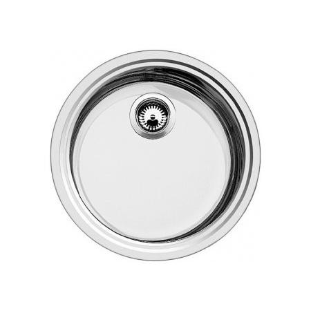 Blanco Rondosol-IF Zlewozmywak stalowy jednokomorowy bez korka automatycznego, stal szczotkowana 514647