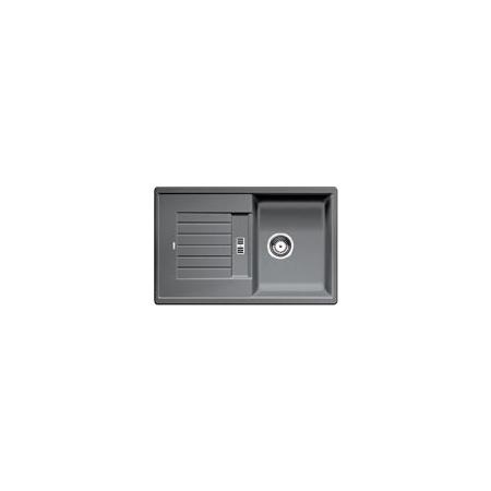 Blanco Zia 45 S Zlewozmywak granitowy Silgranit PuraDur jednokomorowy 78x50 cm z ociekaczem, bez korka automatycznego, alumetalik 514725