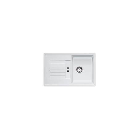 Blanco Zia 45 S Zlewozmywak granitowy Silgranit PuraDur jednokomorowy 78x50 cm z ociekaczem, bez korka automatycznego, biały 514726