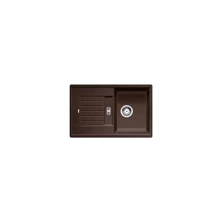 Blanco Zia 45 S Zlewozmywak granitowy Silgranit PuraDur jednokomorowy 78x50 cm z ociekaczem, bez korka automatycznego, kawowy 515070
