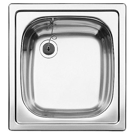 Blanco Top EE 4 x 4 Zlewozmywak stalowy jednokomorowy 43,5x47 cm bez korka automatycznego stalowy mat 501065