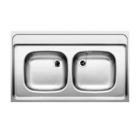 Blanco Z 10 x 6 Zlewozmywak stalowy dwukomorowy 100x60 cm bez korka automatycznego stalowy mat 518222