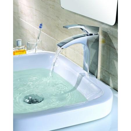 Blue Water Liwia Jednouchwytowa bateria umywalkowa wysoka, chrom LIW-BUSW.025C