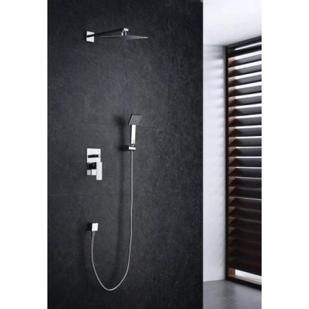 Blue Water Toronto Zestaw prysznicowy podtynkowy z deszczownicą i prysznicem, chrom TOR-ZKP.150C