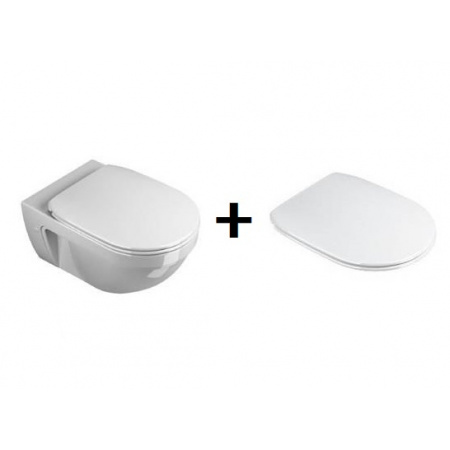 Catalano Canova Royal Toaleta WC podwieszana z deską sedesową wolnoopadającą, biała 1VSCRN00+5SSSTF00