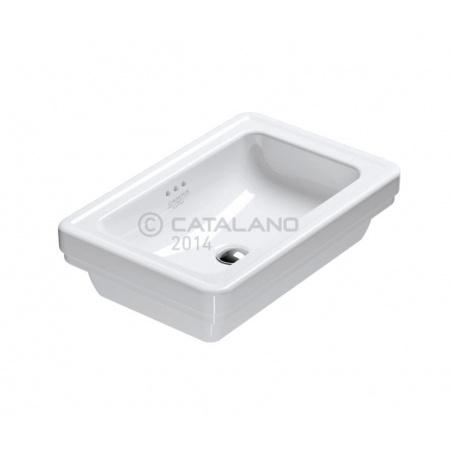 Catalano Canova Royal Umywalka nablatowa 60x40 cm z powłoką CataGlaze, biała 160ACV00