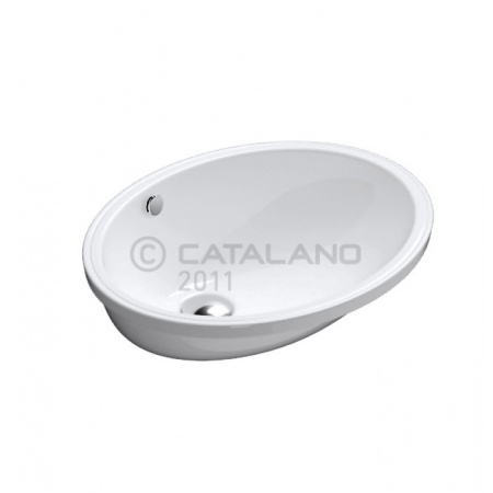 Catalano Canova Royal Umywalka podblatowa 52x42 cm z powłoką CataGlaze, biała 1SO5200