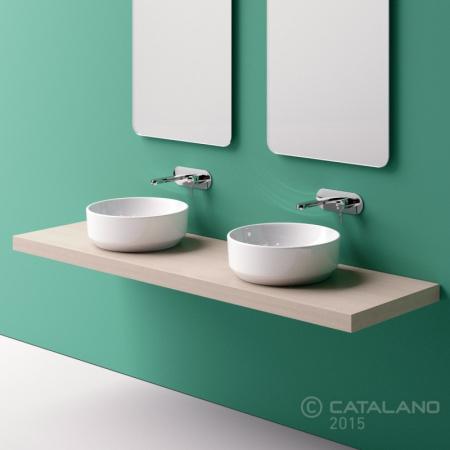 Catalano Green 48 Umywalka nablatowa 48 cm bez otworu na baterię, biała 148AGR00