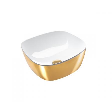 Catalano Green Lux Umywalka nablatowa 40x40 cm z powłoką biała/złota 140APGRLXBO