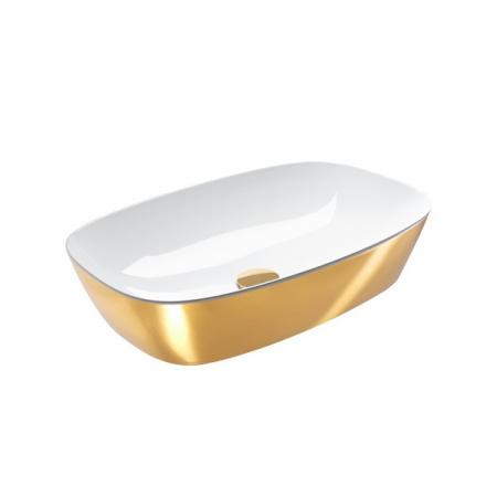 Catalano Green Lux Umywalka nablatowa 60x40 cm z powłoką biała/złota 160APGRLXBO