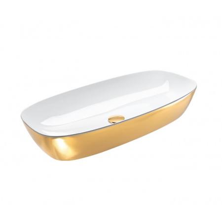 Catalano Green Lux Umywalka nablatowa 80x40 cm z powłoką biała/złota 180APGRLXBO