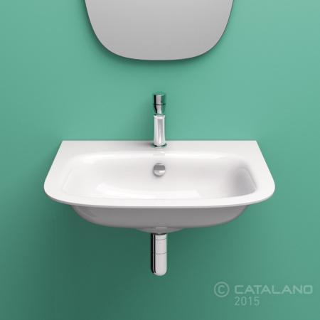 Catalano Green One 55 Umywalka wisząca 55x45 cm z otworem na baterię, biała 155GRON00