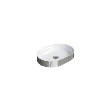 Catalano Horizon Umywalka nablatowa 50x35 cm srebrna/biała 150AHZBA