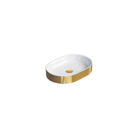 Catalano Horizon Umywalka nablatowa 50x35 cm złota/biała 150AHZBO