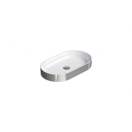 Catalano Horizon Umywalka nablatowa 60x35 cm srebrna/biała 160AHZBA