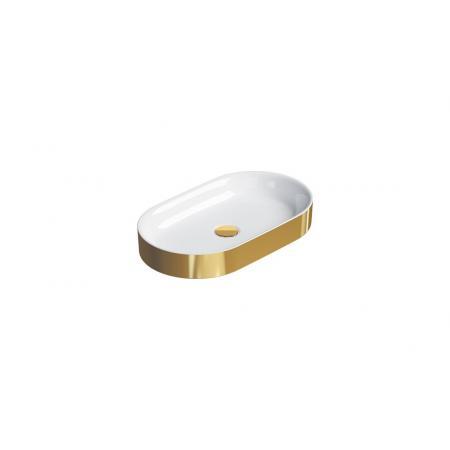 Catalano Horizon Umywalka nablatowa 60x35 cm złota/biała 160AHZBO
