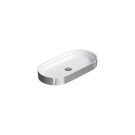 Catalano Horizon Umywalka nablatowa 70x35 cm srebrna/biała 170AHZBA