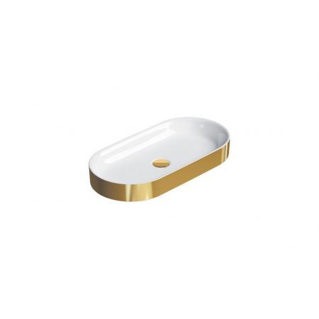 Catalano Horizon Umywalka nablatowa 70x35 cm złota/biała 170AHZBO