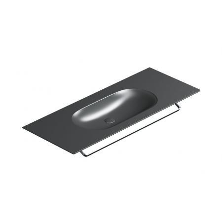Catalano Horizon Umywalka wisząca lub meblowa 125x50 cm czarny mat 1125HZNS