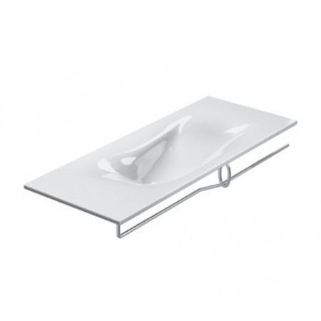 Catalano Impronta Umywalka 125x50 cm z powłoką CataGlaze bez otworów na baterię, biała 1125IMN00