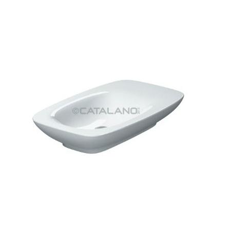 Catalano Impronta Umywalka 75x45 cm bez otworów na baterię z powłoką CataGlaze, biała 175AIM00