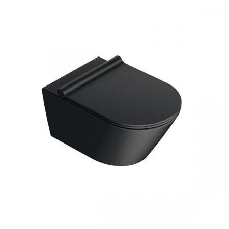 Catalano New Zero Toaleta WC podwieszana 55x35 cm Newflush bez kołnierza czarna satynowa 1VS55NRNS