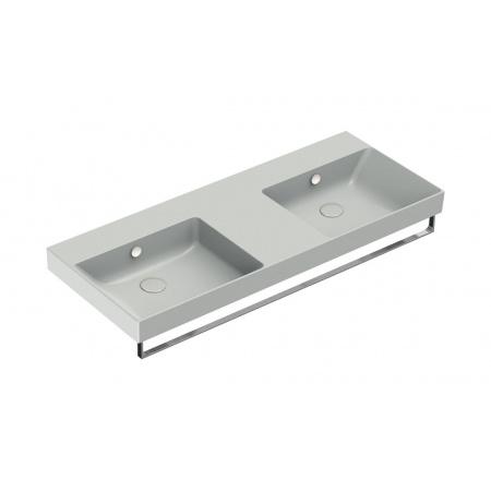 Catalano New Zero Umywalka wisząca lub meblowa 125x50 cm podwójna cement mat 1125ZEDUPCS