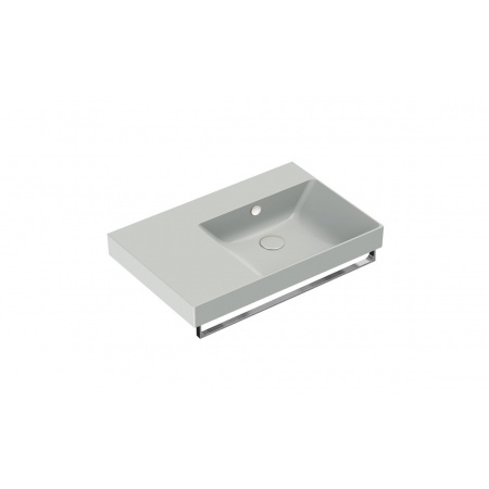 Catalano New Zero Umywalka wisząca lub meblowa 75x50 cm lewa cement mat 175DZEUPCS