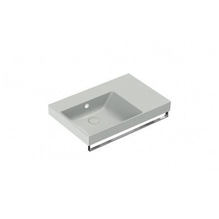 Catalano New Zero Umywalka wisząca lub meblowa 75x50 cm prawa cement mat 175SZEUPCS