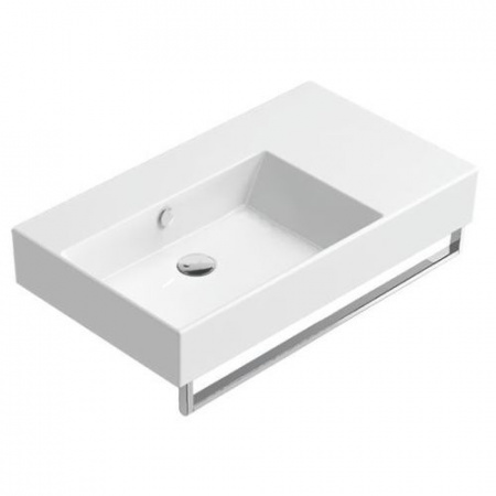 Catalano Premium Umywalka wisząca 60x47 cm bez otworu, wersja lewa, z przelewem i z powłoką CataGlaze, biała 160SVPUP00