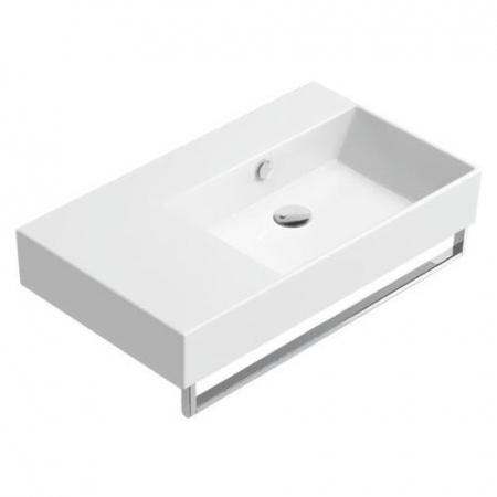 Catalano Premium Umywalka wisząca 80x47 cm bez otworu, prawa, z przelewem i z powłoką CataGlaze, biała 180DVP00