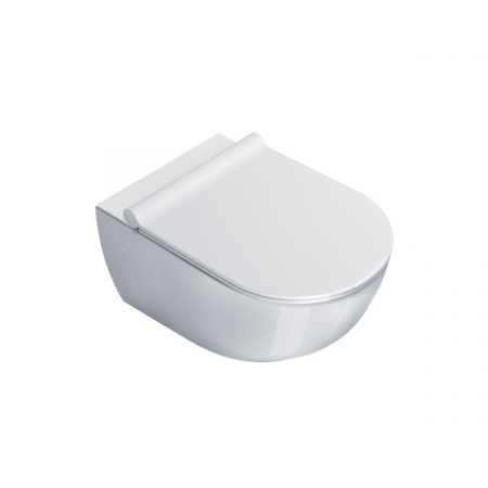 Catalano Sfera Toaleta WC podwieszana 54x35 cm Newflush bez kołnierza z powłoką CataGlaze, biała 1VSF54R00