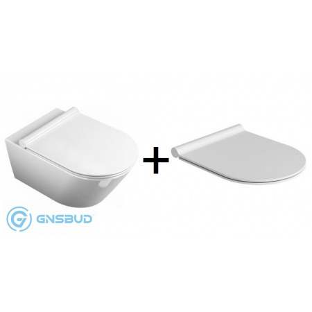 Catalano Sfera Toaleta WC podwieszana 35x54 cm z powłoką CataGlaze z deską sedesową wolnoopadającą Slim, biała 1VSF54A00+5SCSTP000