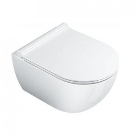 Catalano Sfera Toaleta WC podwieszana 50x35 cm NewFlush bez kołnierza z powłoką CataGlaze, biała 1VSS50R00