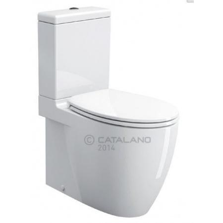 Catalano Velis Miska WC kompaktowa 37x70 cm z powłoką CataGlaze, biała 1MPVSJ00