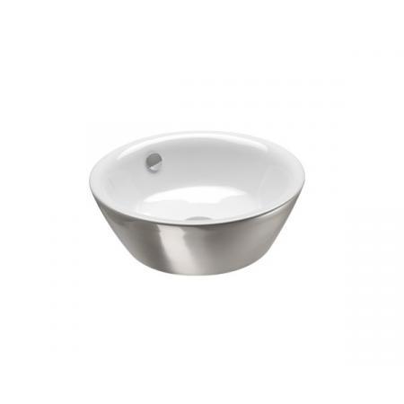 Catalano Velis Umywalka nablatowa 42x42 cm z powłoką biała/srebrna 142VLNBA