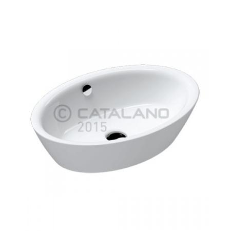 Catalano Velis Umywalka nablatowa 60x42 cm,  z powłoką CataGlaze, biała 160VLN00