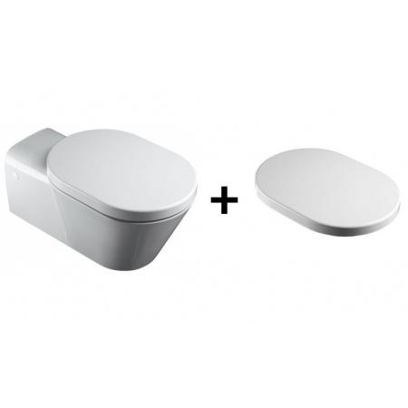 Catalano Verso Comfort Zestaw Miska WC wisząca + Deska zwykła, biała 1VSHE00+5HEST00