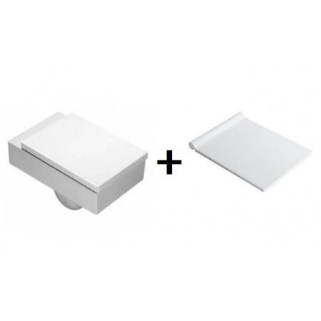 Catalano Verso Zestaw Toaleta WC podwieszana z deską sedesową wolnoopadającą Slim, biały 1VSVE00+5VESTP00