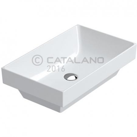 Catalano Verso Umywalka nablatowa 60x37 cm, bez otworu na baterie, z przelewem, biała 16037VE00