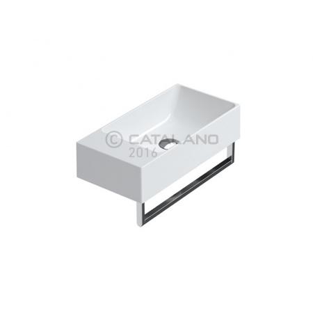 Catalano Verso Umywalka wisząca 40x23 cm, bez otworu na baterie i przelewu, biała 14023VE00