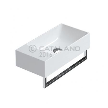 Catalano Verso Umywalka wisząca lub nablatowa 40x23 cm mała, biały mat 14023VEBM
