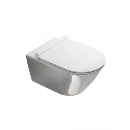 Catalano Zero Toaleta WC 55x35 cm bez kołnierza z powłoką biała/srebrna 1VS55NRBA