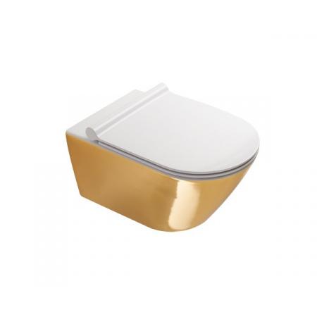 Catalano Zero Toaleta WC 55x35 cm bez kołnierza z powłoką biała/złota 1VS55NRBO
