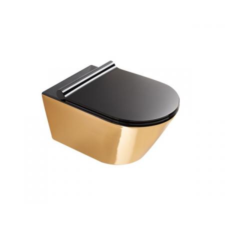 Catalano Zero Toaleta WC 55x35 cm bez kołnierza z powłoką czarna/złota 1VS55NRNO