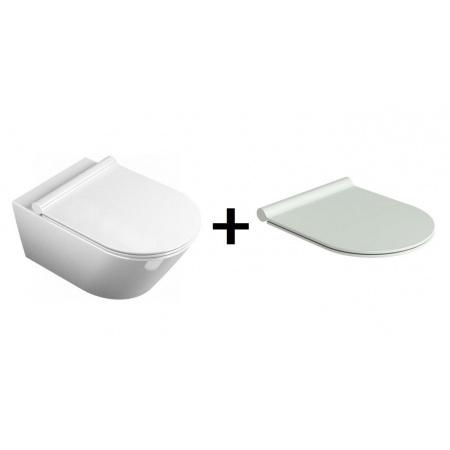 Catalano Zero Zestaw Toaleta WC podwieszana z deską sedesową wolnoopadającą, biały 1VSV50N00+5SCSTP000