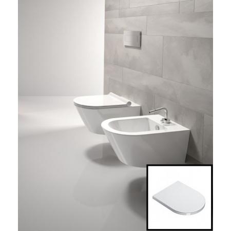 Catalano Zero Zestaw muszla klozetowa miska WC podwieszana + deska sedesowa wolnoopadająca, biała 1VS55N00+5SCSTF00