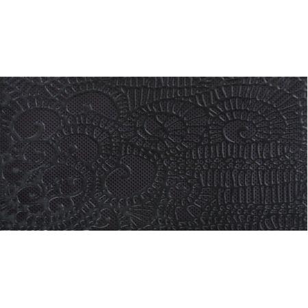Ceramstic Alchemia Nero Hypnotic Płytka ścienna 60x30 cm dekor, czarna DK-32B